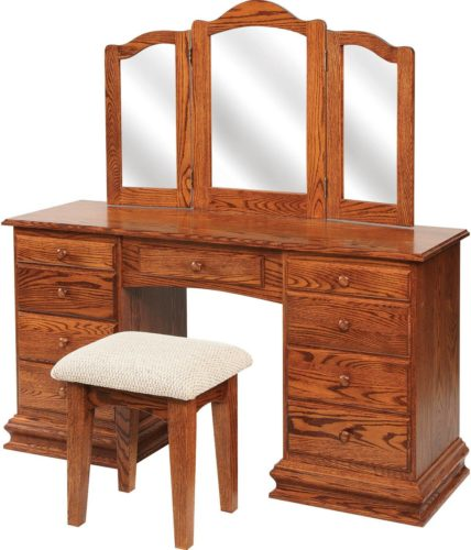Amish Clockbase Dressing Table