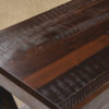 Amish Deco River Console Table Reclaimed Barnwood Detail