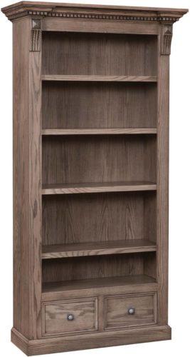 Amish Grand Manor Bookcase Oak