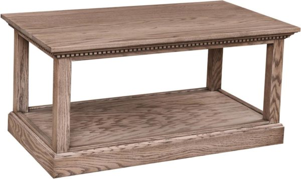 Amish Grand Manor Coffee Table Oak