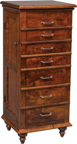 Amish Plymouth Jewelry Armoire Rustic Cherry