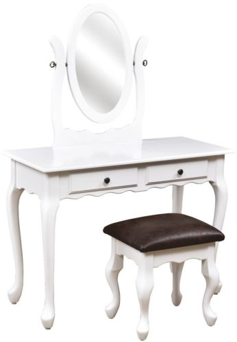 Amish Queen Anne 2 Drawer Dressing Table