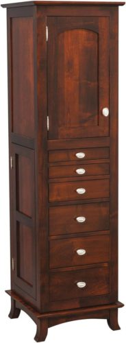 Amish Revolving Shaker Mirrored Jewelry Armoire