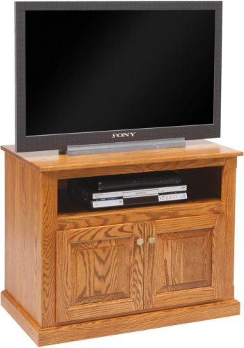 Amish Traditional T.V. Stand with Doors