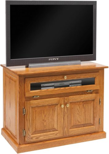 Amish Traditional T.V. Stand-RP with Doors and Drawers