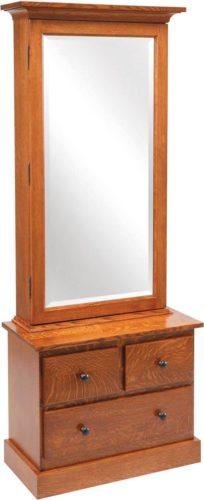 Amish Weston Shaker Mirrored Jewelry Armoire