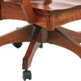 Wyndlot Hardwood Desk Chair with Mission Base