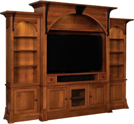 Amish Breckenridge TV Wall Unit