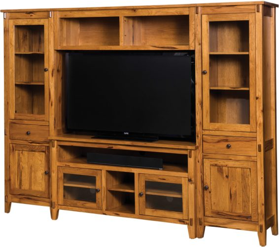 Amish Bungalow TV Wall Unit