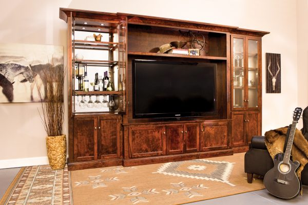 Amish Manning TV Wall Unit Room View