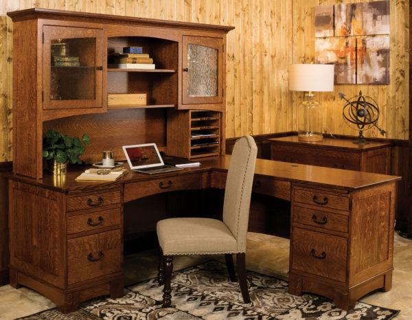 Custom Amish Noble Mission L Shaped Desk