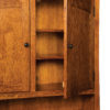 Amish Noble Mission Lateral File Cabinet Hutch Topper Detail