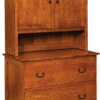 Amish Noble Mission Lateral File Cabinet and Hutch Top