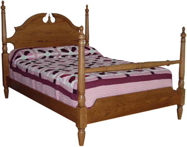 Amish Crown Four Post Bed