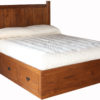 Shaker Storage Bed No Footboard with 6 Drawers