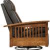 Amish Hoosier Reclining Swivel Glider Side View