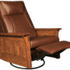 Amish Mid-Reclined McCoy Swivel Rocker Recliner