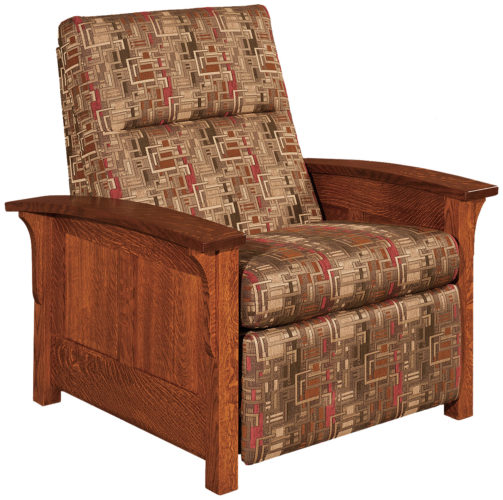 Amish Skyline Panel Recliner