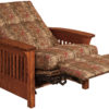 Amish Skyline Chair Recliner Fully Reclined