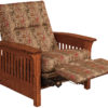 Amish Skyline Slat Chair Recliner Mid-Reclined