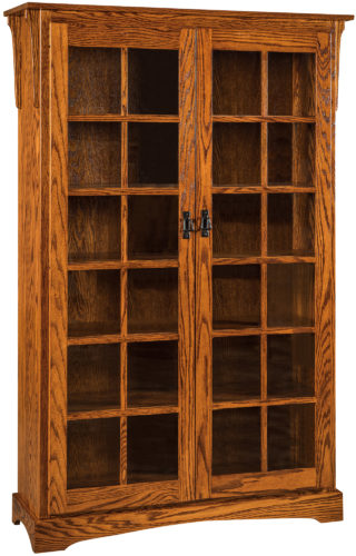 Amish Mission XL Two Door Bookcase