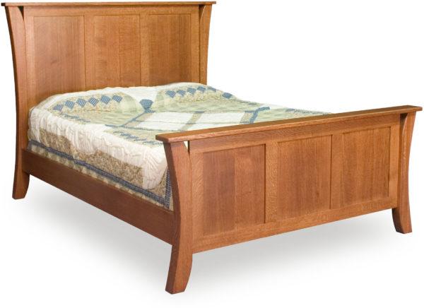 Amish Caledonia Three Panel Bed
