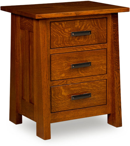 Amish Freemont Mission Three Drawer Nightstand
