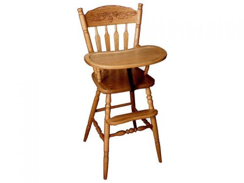 Wooden Acorn High Chair
