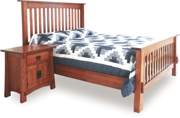 Amish Modesto Slat Bed