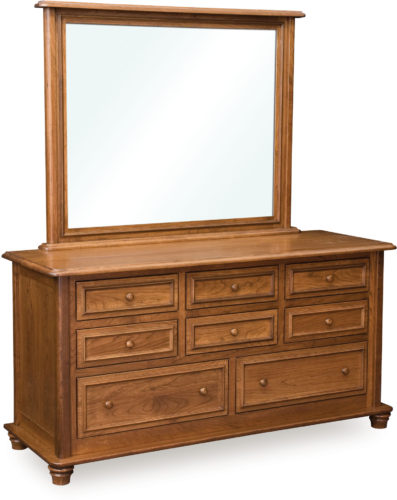 Amish Woodberry 8 Drawer Dresser