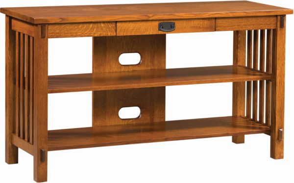 Amish Rio Mission Open TV Console Table