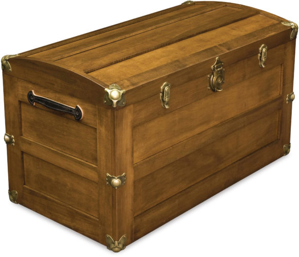 Amish Trunk With Rounded Lid