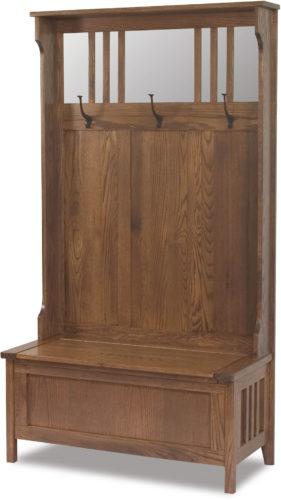 Amish Rustic Hall Bench