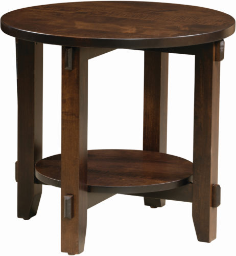 Round Bungalow End Table