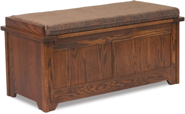 Amish Shaker Chair Rail Bench with Cushion