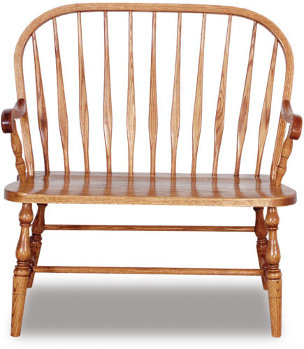 Amish Bent Feather Bow Bench