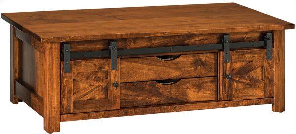 Amish Teton Barn Door Coffee Table