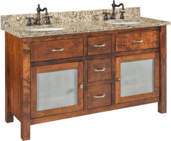 Amish Regal Double Bowl Sink Cabinet