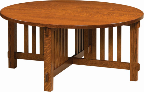Round Rio Mission Coffee Table