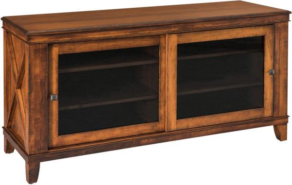 Amish Newport 60 Inch TV Cabinet