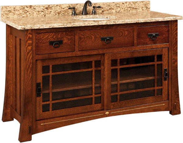 Amish Morgan Wide Single Sink Cabinet