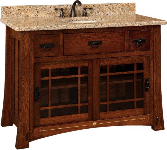 Amish Morgan Single Sink Cabinet