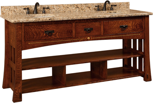 Amish Mesa Double Sink Cabinet