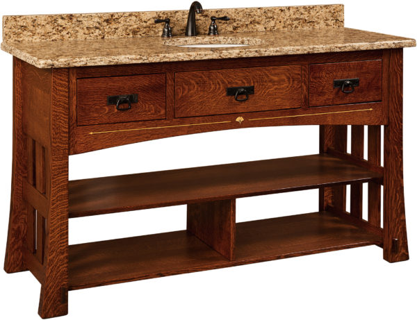 Amish Mesa Wide Single Sink Cabinet
