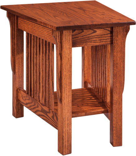 Amish Leah Wedge End Table