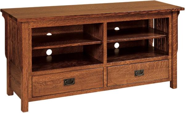 Amish Landmark Large Open TV Cabinet