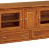 Amish West Lake 60 Inch Wood TV Cabinet