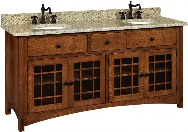 Amish Springhill Double Basin Free Standing Sink Cabinet
