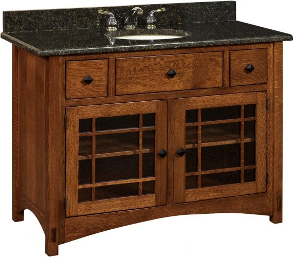 Amish Springhill Medium Free Standing Sink Cabinet