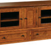 Amish Quincy 60 Inch TV Cabinet